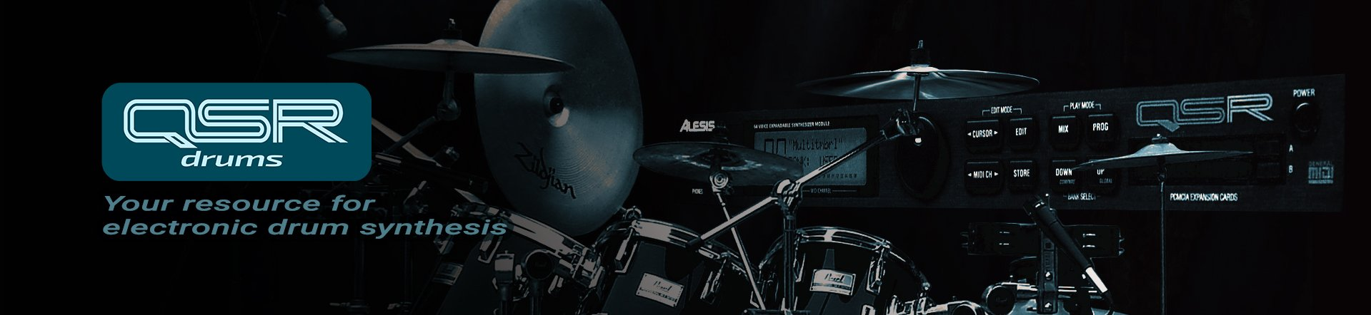 QSR drums home page banner image